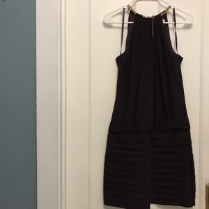 Caché Halter Purple Dress